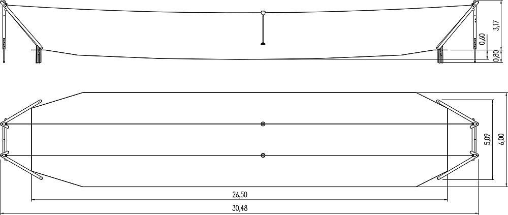 kabelbaan Montana Duo 30 m voor heuvelinbouw