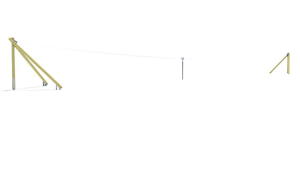 kabelbaan Montana 30 m voor heuvelinbouw