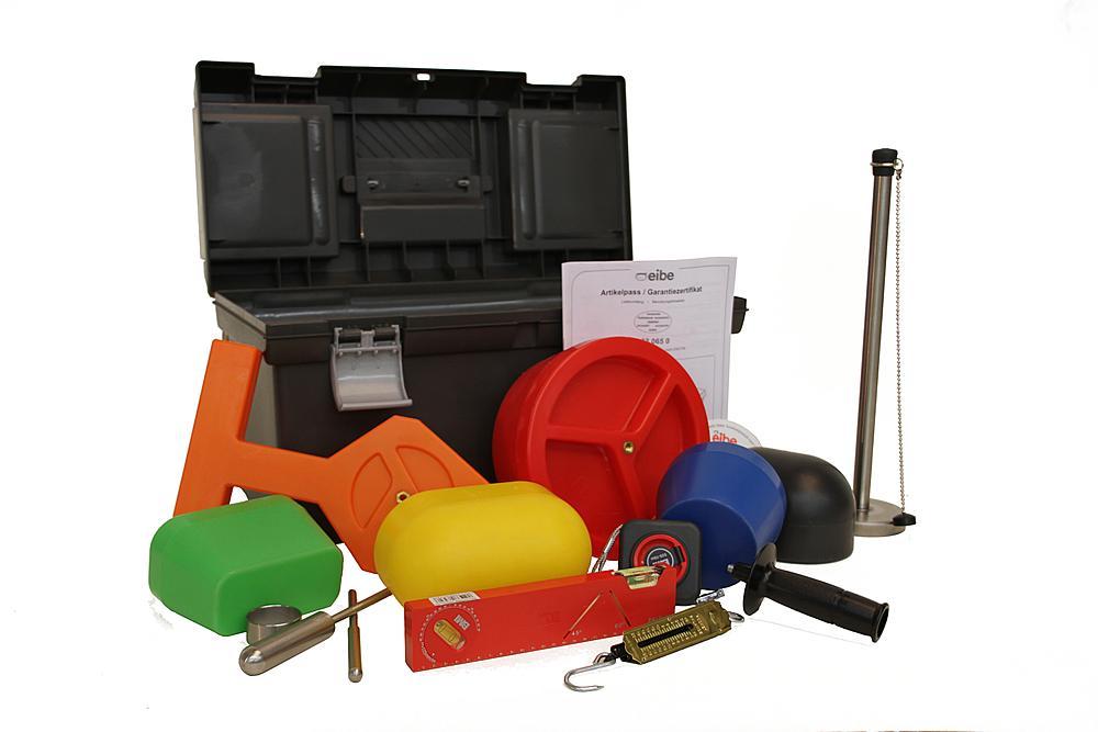 Koffer met toetsingsset voor speeltoestellen volgens EN1176