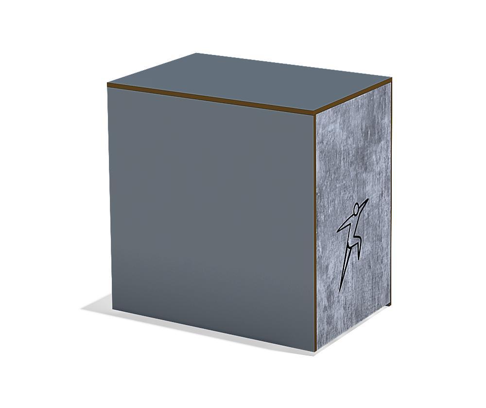 Calisthenics springkast groot HPL, FL 3 anthrazit-beton