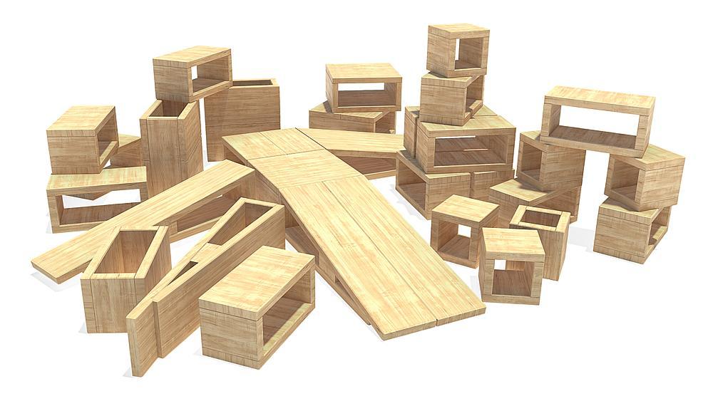 hol blok bouwkasten