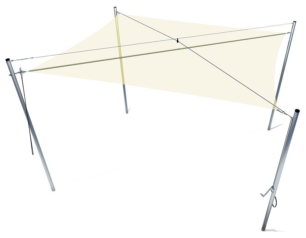 Schaduwzeil vierkant 5x5 m