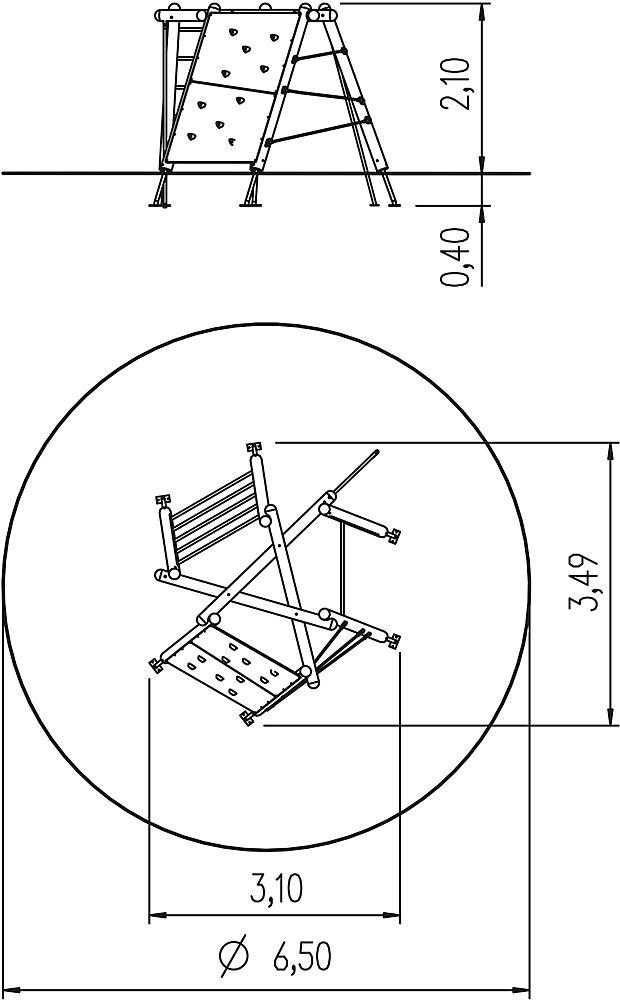 zeshoek-klimpret 210