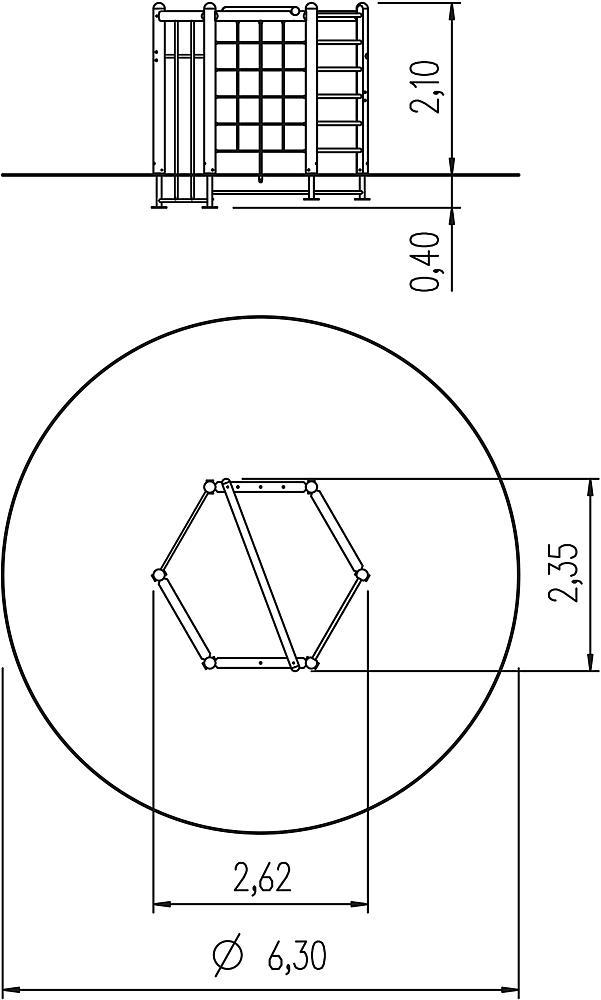 zeshoektoestel 210