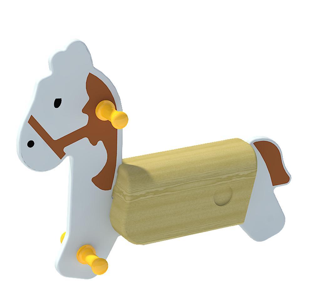 Veerwip Paard zonder veer