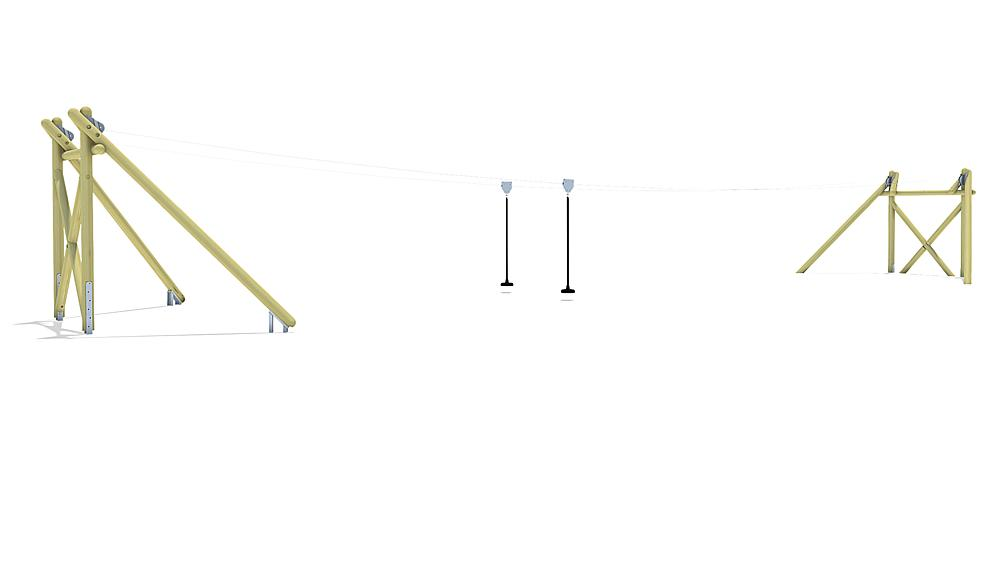 kabelbaan Montana Duo 20 m voor heuvelinbouw