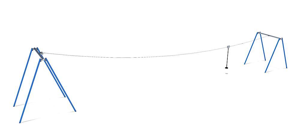 Kabelbaan 50 m voor heuvelinbouw