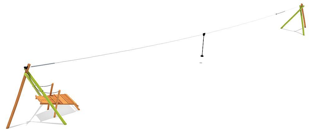 kabelbaan Tardo met startpodium 30 m