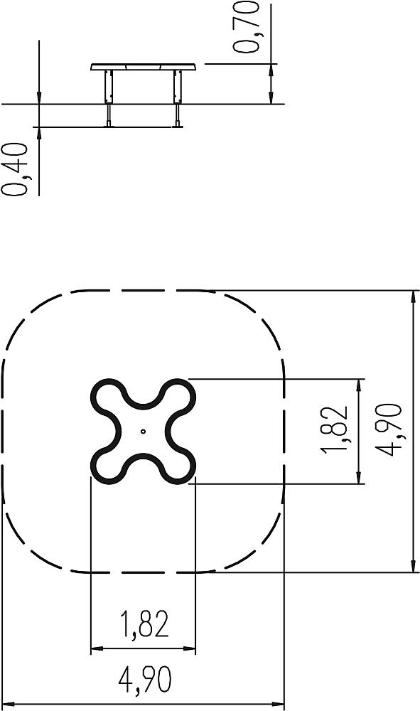 Klaverblad-zandtafel