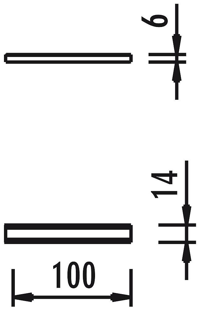 Houten goot, strekkende meter