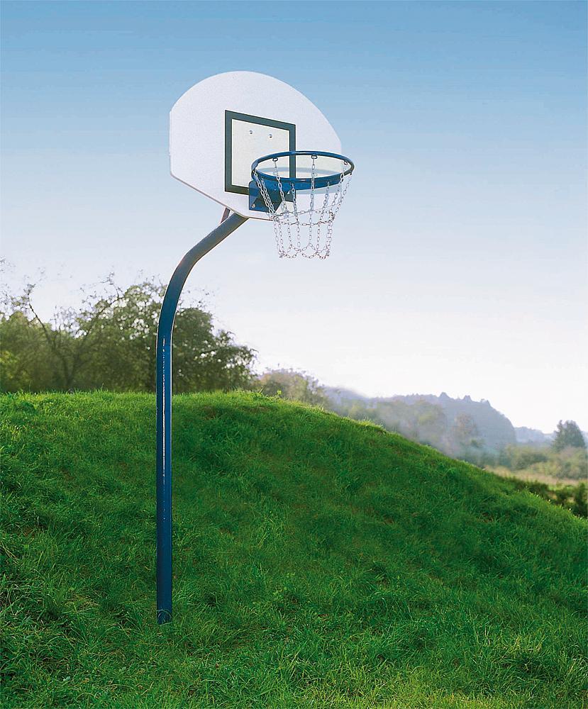 Basketbaltoestel stalen buis incl. bodemhuls