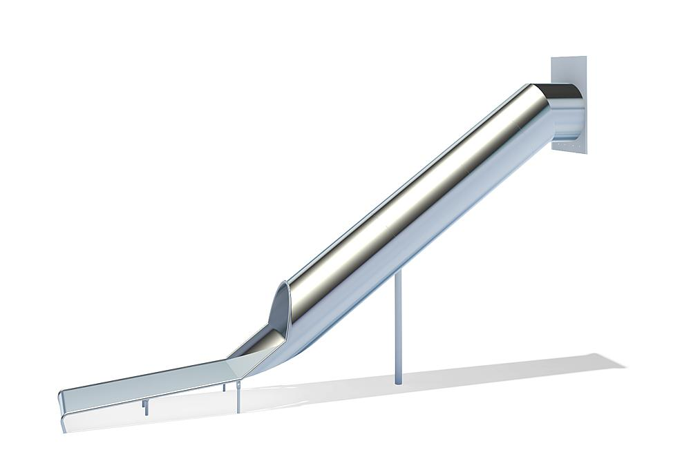 Buisglijbaan recht, ph 295 cm, RVS