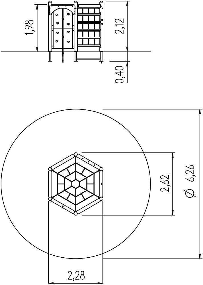 zeshoektoestel 210 met net