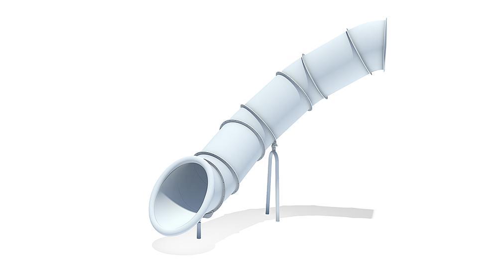 Buisglijbaan 80 graden, links draaiend, ph 245 cm
