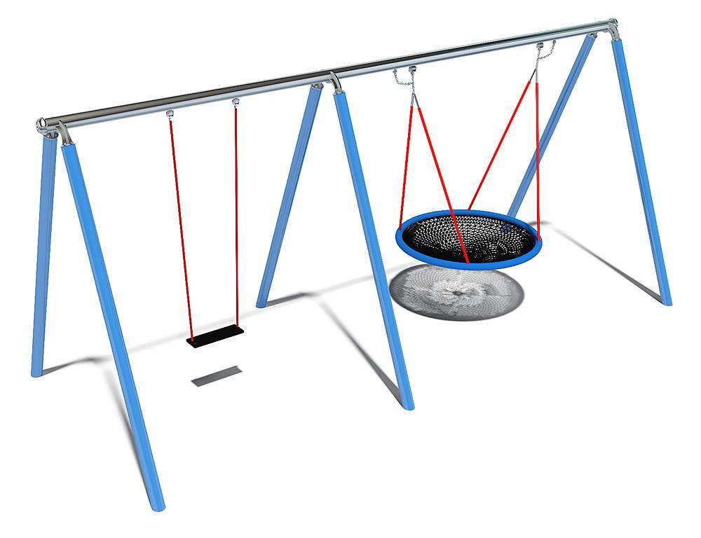 vogelnest + schommel Luna met 360° schommelscharnier