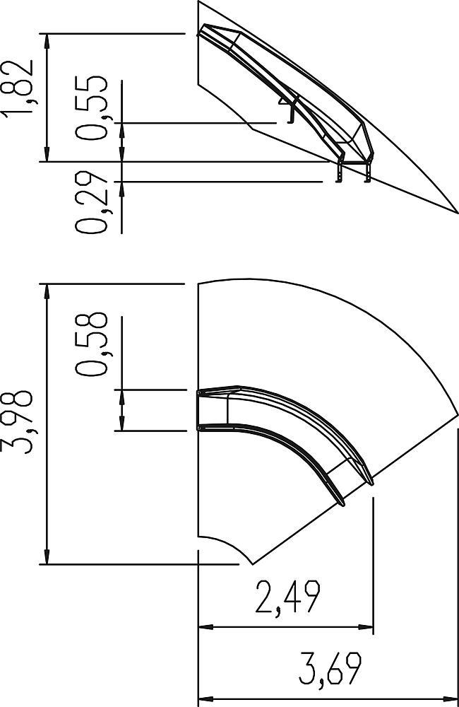 Glijbaan curve rechts