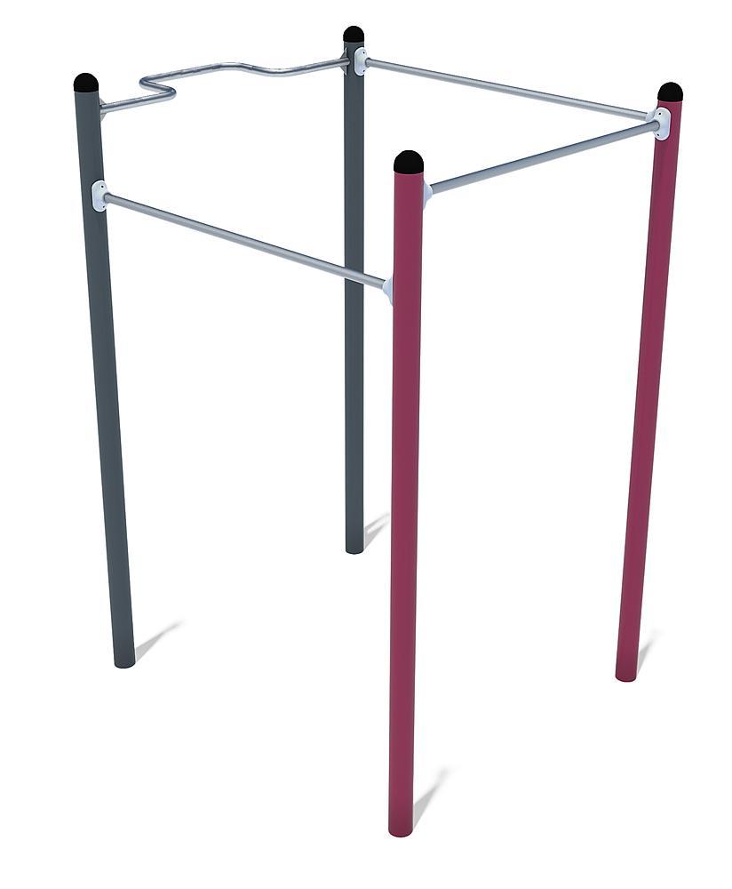 Calisthenics uitrusting Mini 01 staal, roestvrij staal, FL 3 anthraciet-violet