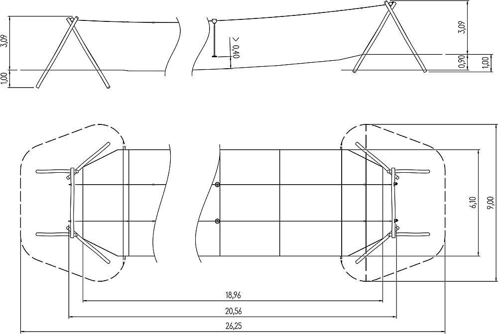 dubbele kabelbaan Telesto 20 m