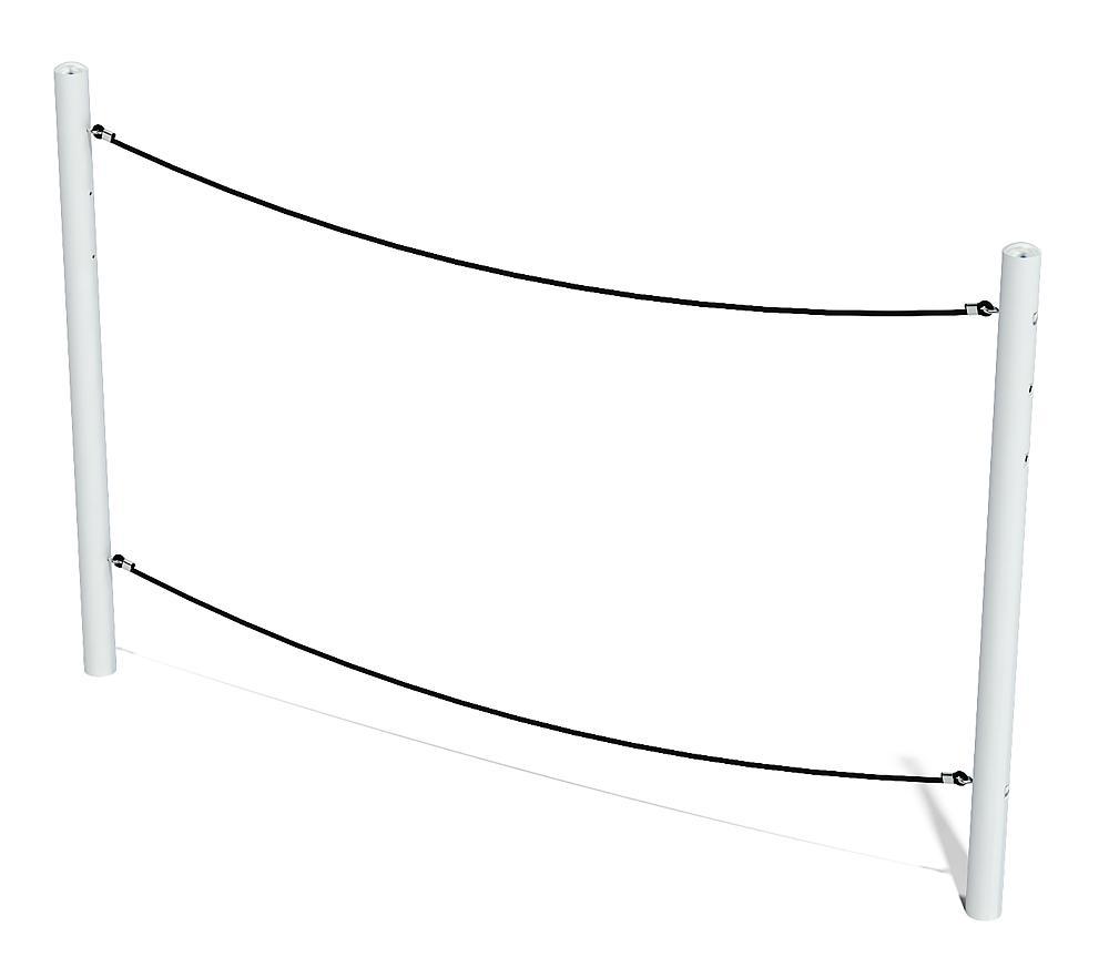 balance balanceertouw Wals met metalen palen