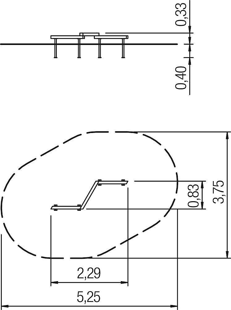 zig-zag balk overgang L2